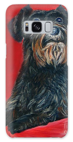 Black Schnauzer Pet Portrait Prints Galaxy Case