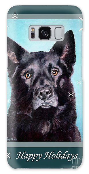 Black Shepard Mix Portrait Holiday Galaxy Case