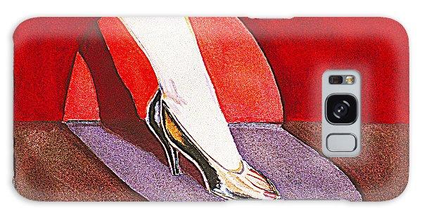 Black Shoe And Woman's Leg Galaxy Case