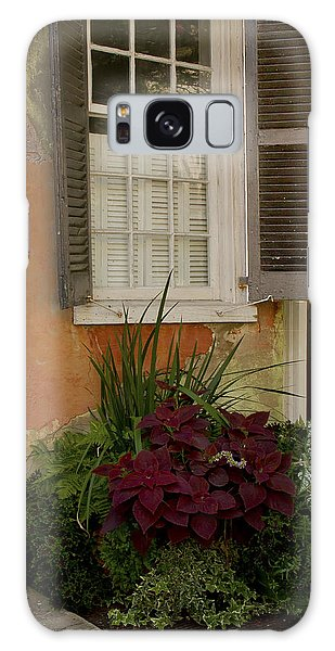 Black Shutters With Flower Bed Galaxy Case