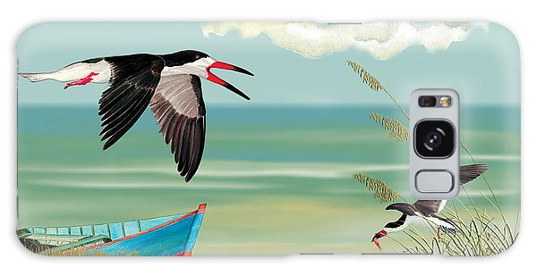 Black Skimmers Fishing Galaxy Case
