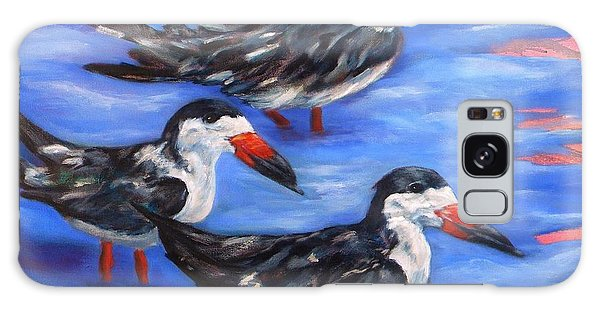 Black Skimmers Galaxy Case
