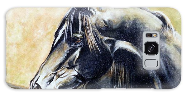 Black Stallion Galaxy Case