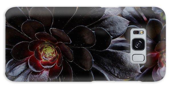 Black Succulent Galaxy Case