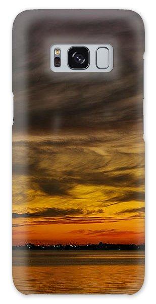 Black Sunset Galaxy Case by Tannis  Baldwin