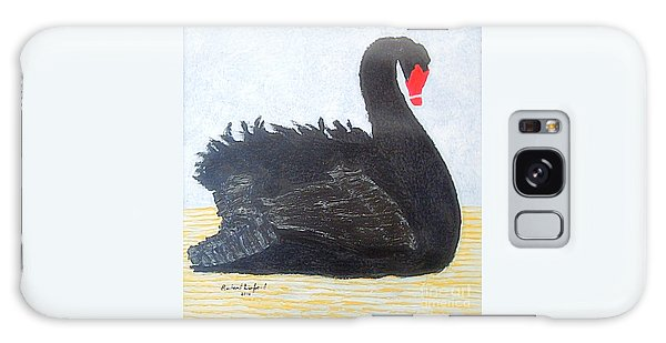 Black Swan Lake Galaxy Case by Richard W Linford
