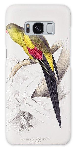 Black Tailed Parakeet Galaxy Case