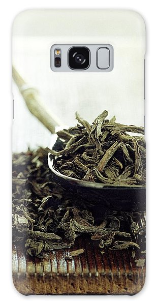 Black Tea Leaves Galaxy Case