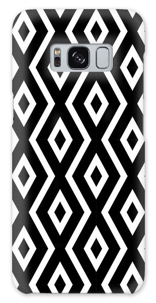 Galaxy Case - Black And White Pattern by Christina Rollo