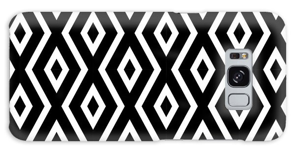 Shapes Galaxy Case - Black And White Pattern by Christina Rollo