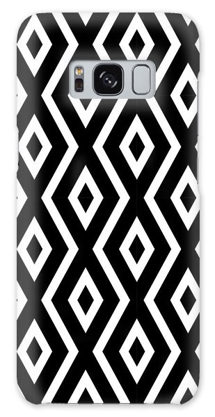 Beach Galaxy S8 Case - Black And White Pattern by Christina Rollo
