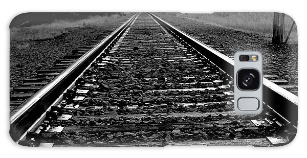 Black White Tracks Galaxy Case