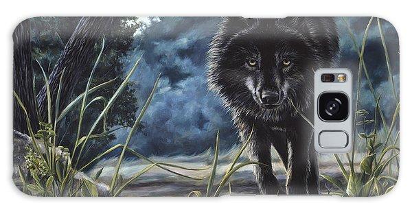 Black Wolf Hunting Galaxy Case
