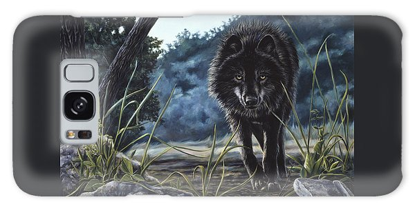 Black Wolf Hunting Galaxy Case