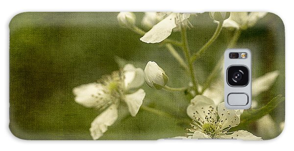 Blackberry Flowers With Textures Galaxy Case by Wayne Meyer