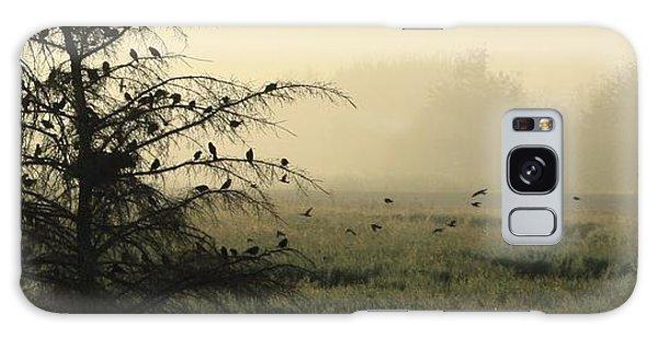 Blackbirds Singing In The Morning Fog Galaxy Case