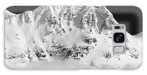 Blackcomb Above The Clouds In Black And White Galaxy Case