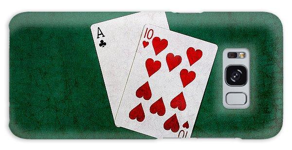 Blackjack Twenty One 1 Galaxy Case by Alexander Senin