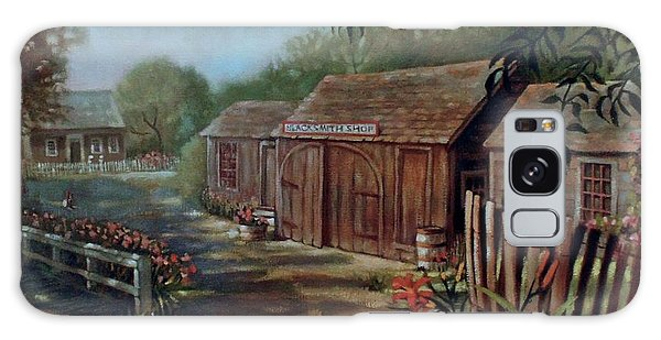 Blacksmith Shop Galaxy Case by Janet McGrath