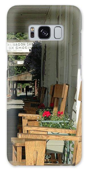 Blacksmith Shop On The Boardwalk Of Virginia City Montana Galaxy Case