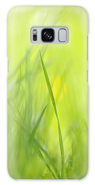 Blades Of Grass - Green Spring Meadow - Abstract Soft Blurred Galaxy Case