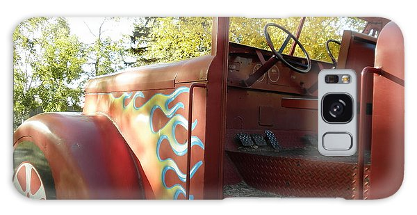 Blazing Red Fire Truck Galaxy Case