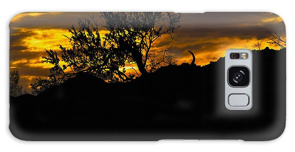 Blazing Sunset Galaxy Case