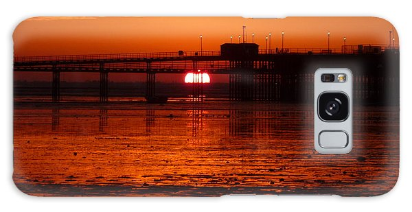 Blazing Sunset Galaxy Case by Vicki Spindler