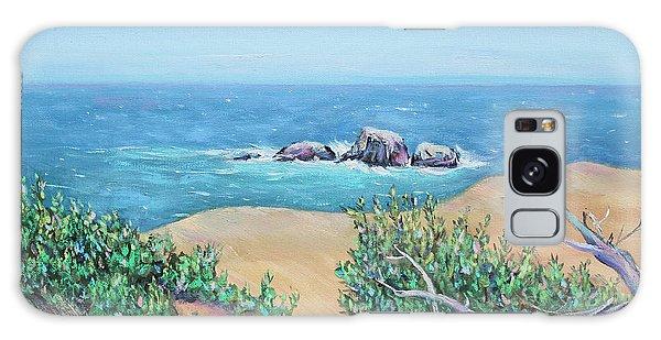Bleached Cedar And Ocean Rocks Galaxy Case by Asha Carolyn Young