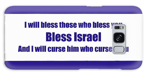 Bless Israel Poster Galaxy Case