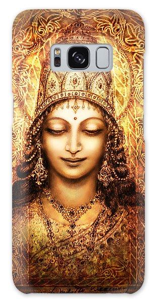 Blissful Goddess Galaxy Case by Ananda Vdovic