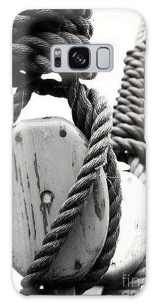 Block And Tackle Of Old Sailing Ship Galaxy Case