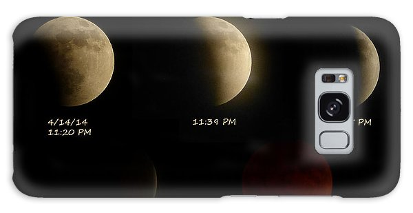 Blood Moon Eclipse Of 4/15/2014 Galaxy Case by Cindy Wright