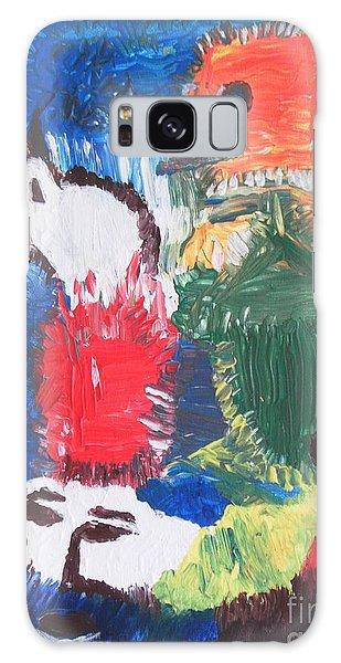 Blood On Fire Galaxy Case by Mudiama Kammoh