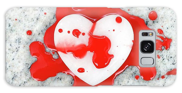 Heartache Galaxy Case - Bloodied Heart by Bildagentur-online/ohde/science Photo Library