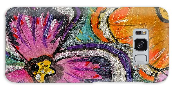 Blooming Flowers Galaxy Case by Joan Reese