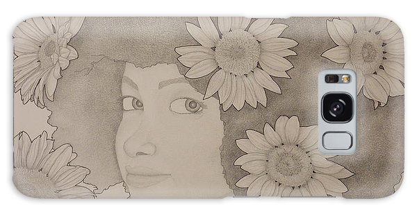 Blooming Girl Sunflower 2 Galaxy Case