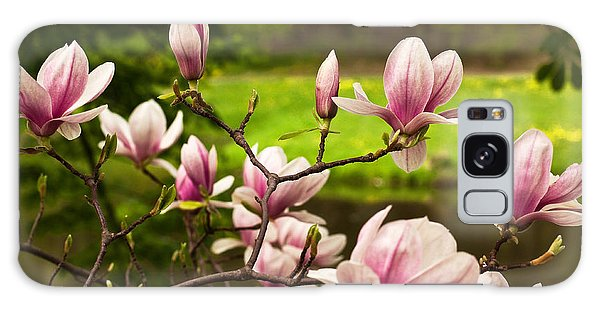 Blooming Magnolia Tree Galaxy Case