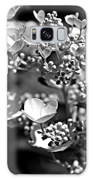Blooms And Berries In Black And White Galaxy Case