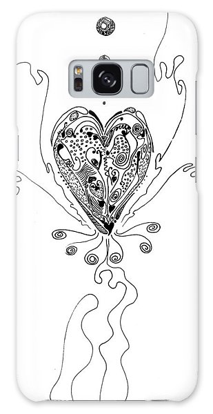 Blossoming Love Galaxy Case