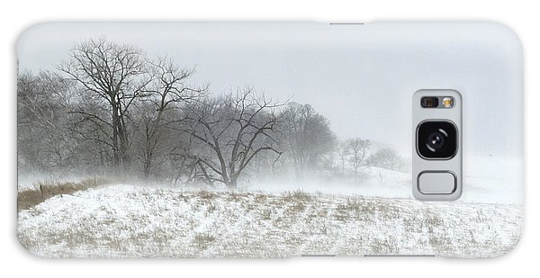 Blowing Snow Over Fields And Forest Galaxy Case
