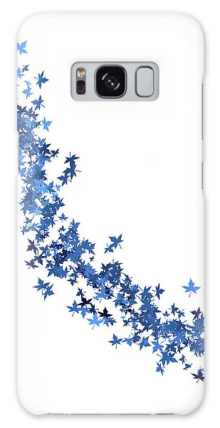 Blowing Winter Leaves Galaxy Case