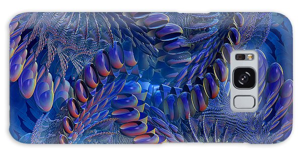 Blue 3 Galaxy Case by Deborah Benoit