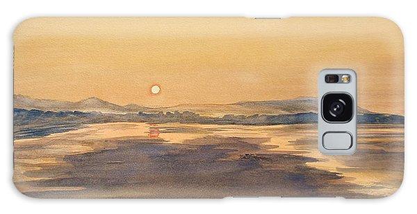 Blue Anchor Sunset Galaxy Case by Martin Howard