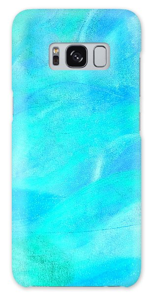 Blue And Aqua Abstract Galaxy Case