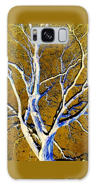 Blue And Gold Galaxy Case by Jodie Marie Anne Richardson Traugott          aka jm-ART