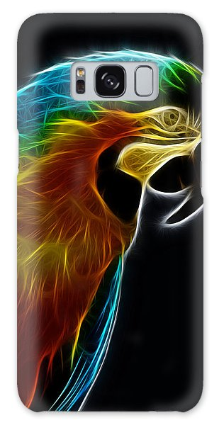 Blue And Gold Macaw Frac Galaxy Case by Bill Barber