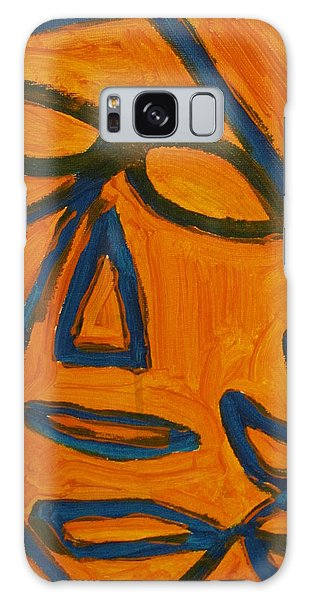 Blue And Orange Galaxy Case