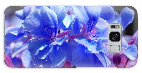 Blue And Purple Flowers Galaxy Case by Matt Harang