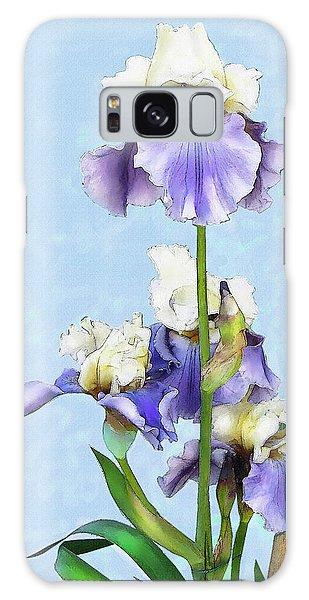 Blue And White Iris Galaxy Case by Jane Schnetlage